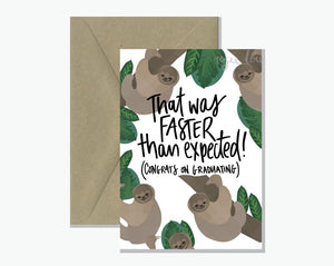 Rosie Lou Sloth Graduation -Cards