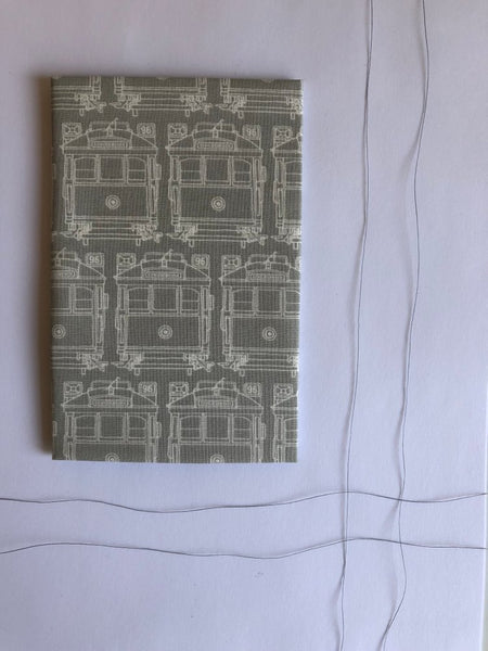 Hanky Fever Trams Hanky -Hanky Charcoal Small Melbourne