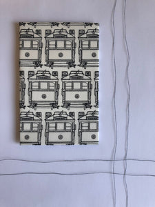 Hanky Fever - Trams Hanky small - last minute gift idea - melbourne