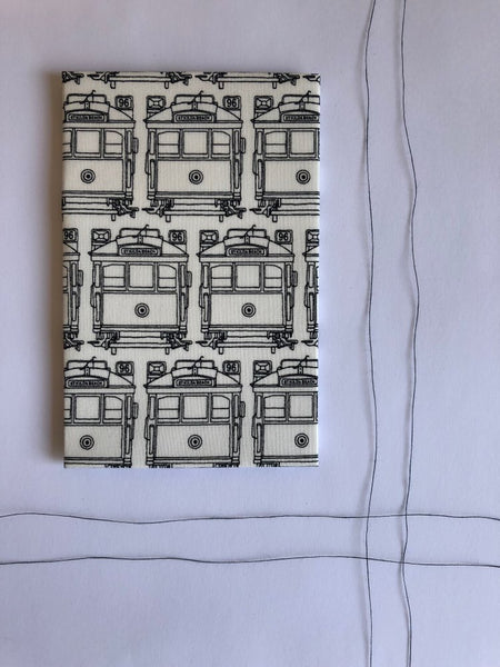 Hanky Fever Trams Hanky -Hanky White Large Melbourne