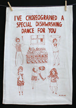 Able and Game I've Choreographed A Special Dishwashing Dance For You --- Tea Towel -Cards