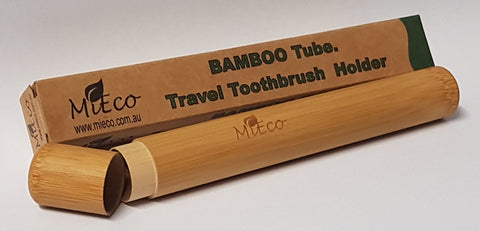 Aroha Earth Travel Toothbrush Holder - Bamboo -Toothbrush Holder Tube Melbourne