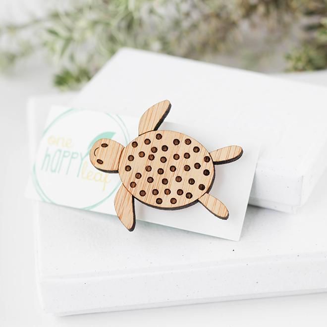 One Happy Leaf - Turtle Brooch - last minute gift idea - melbourne