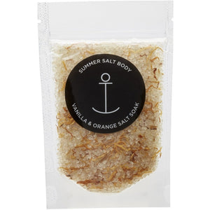 Summer Salt Body Mini Salt Soak | Vanilla & Orange - 70g -Face and Body