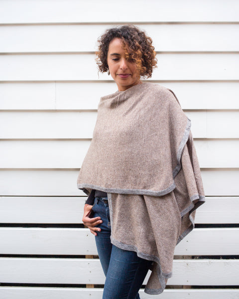 Nine Yaks Zoé Cashmere Cape -Clothing Melbourne