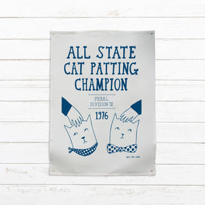All State Cat Petting Champion --- Tea Towel - Pookipoiga