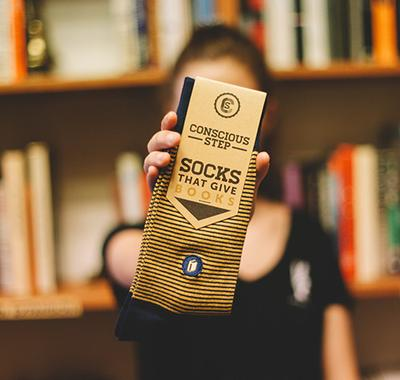 Conscious Step Socks for Books -Clothing Stripes Melbourne