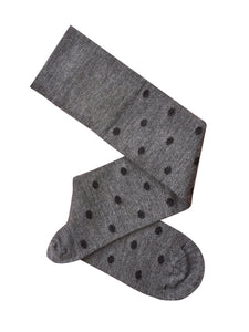 Tightology Dotty Merino Wool Socks -Socks Grey and Charcoal Dots Melbourne