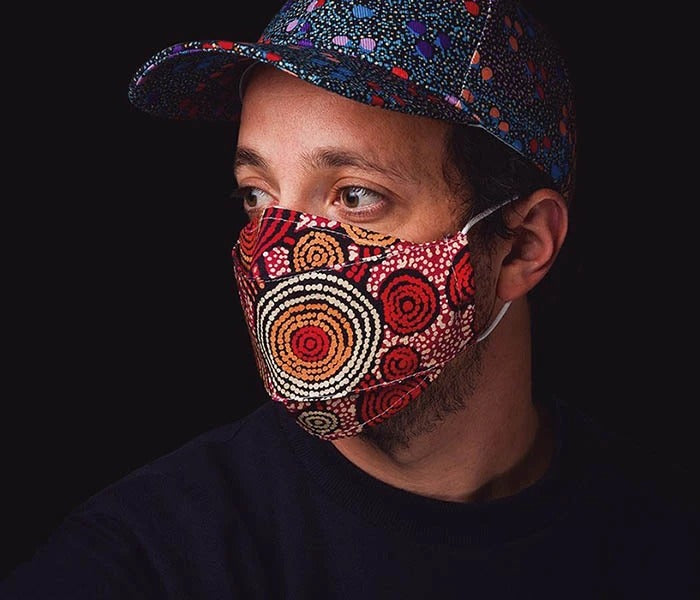 Aboriginal Art reusable Face masks - Pookipoiga