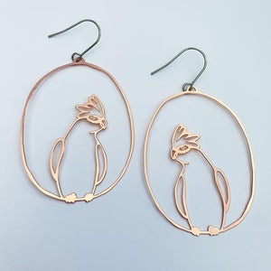 Galah dangles in rose gold - Pookipoiga