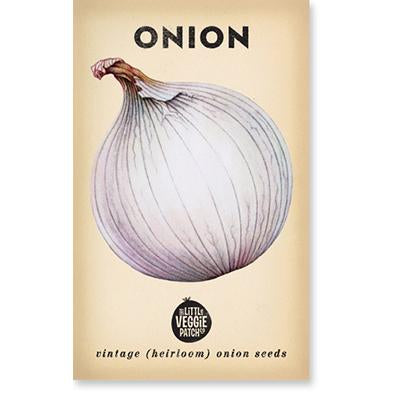 Little Veggie Patch Co - ONIONS 'GLADALAN WHITE' HEIRLOOM SEEDS - last minute gift idea - melbourne