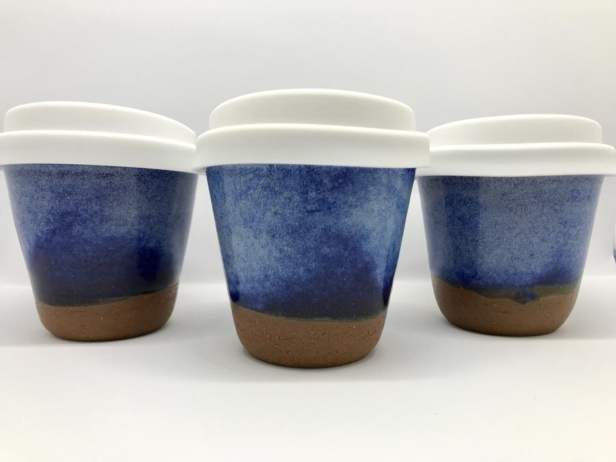 Bryteka Pottery Ceramic reusable coffee cups- 4oz -Coffee Cup Denim Melbourne