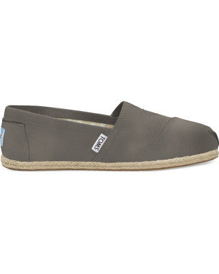 Grey Washed Canvas Alpargatas