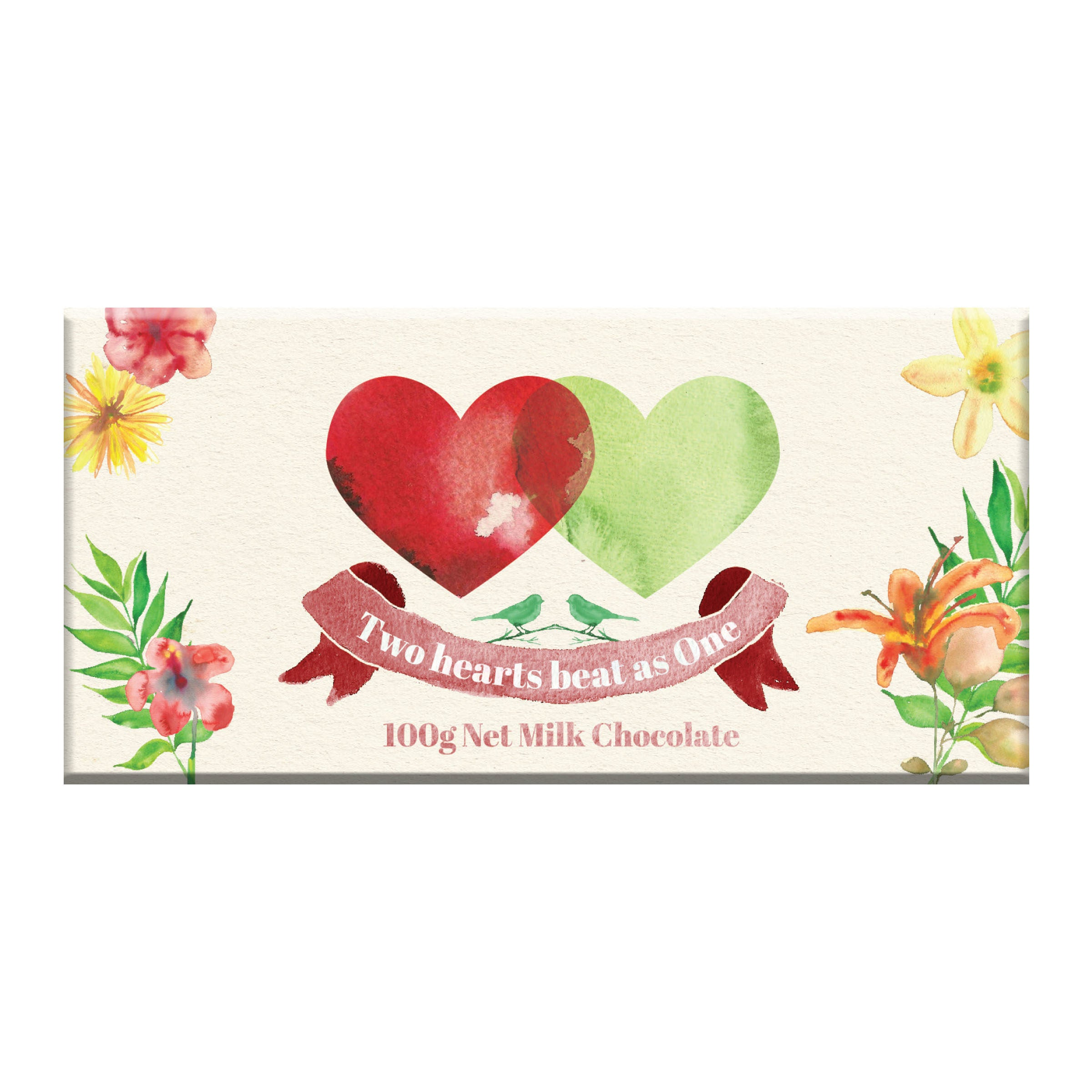BellaBerry Two Hearts Beat as One Milk Chocolate -Chocolate