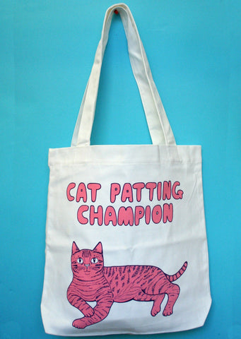 Able and Game Cat Petting Champion Tote Bag -Bag Melbourne