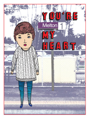 Able and Game You're Melton my heart -Cards Melbourne