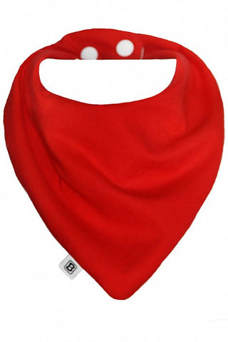 Bibska Bibs Red Organic Bamboo/Cotton Bib -Bib Melbourne