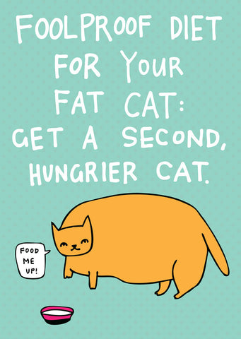 Foolproof diet for your fat cat: Get a second, hungrier cat