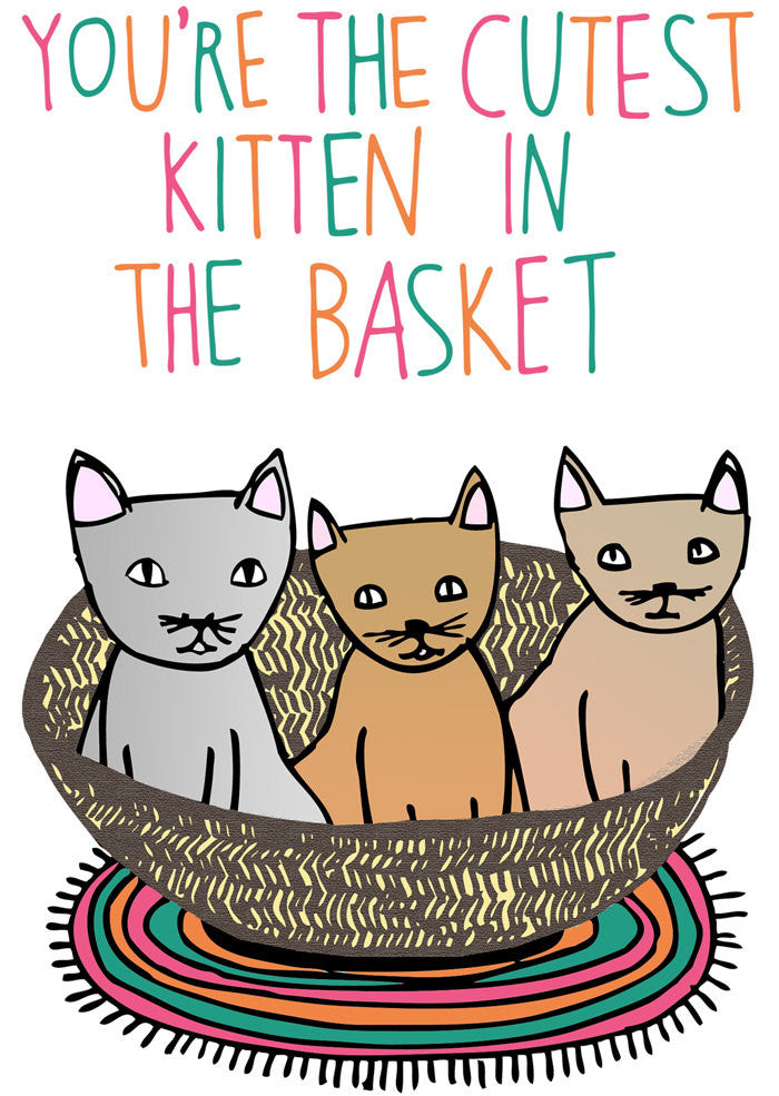Able and Game - You're the cutest kitten in the basket - last minute gift idea - melbourne