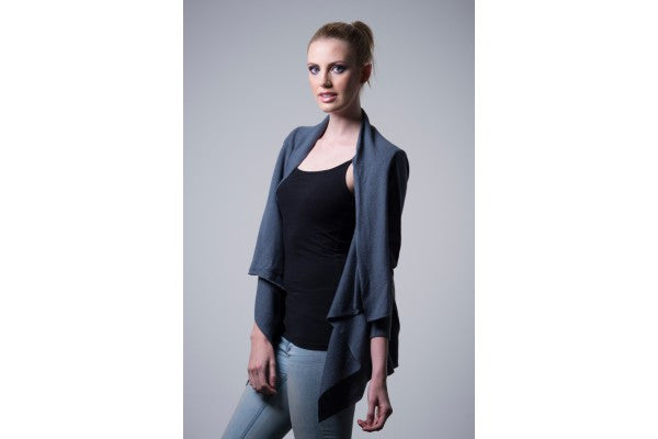 Nine Yaks Nine Yaks Waterfall Cardigan -Cardigan Steel 36 Melbourne