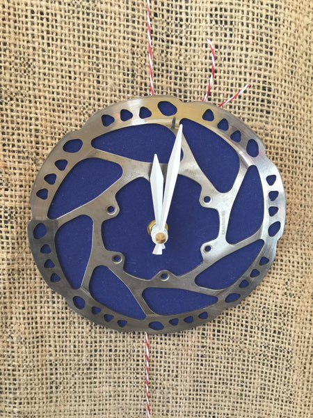 Tread and Pedals Tread and Pedals Rotor Clock -Clock Blue Melbourne