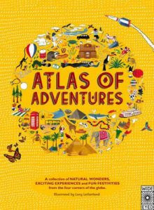 United Book Distributors Atlas of adventures by Lucy Letherland -Books