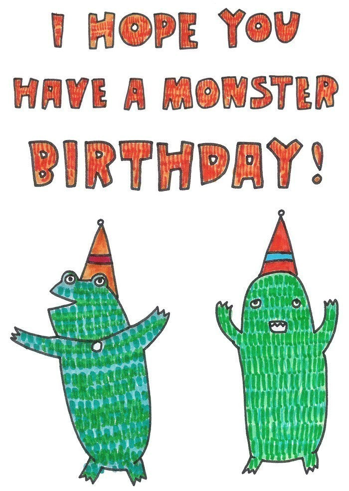 Able and Game - I hope you have a monster birthday - last minute gift idea - melbourne