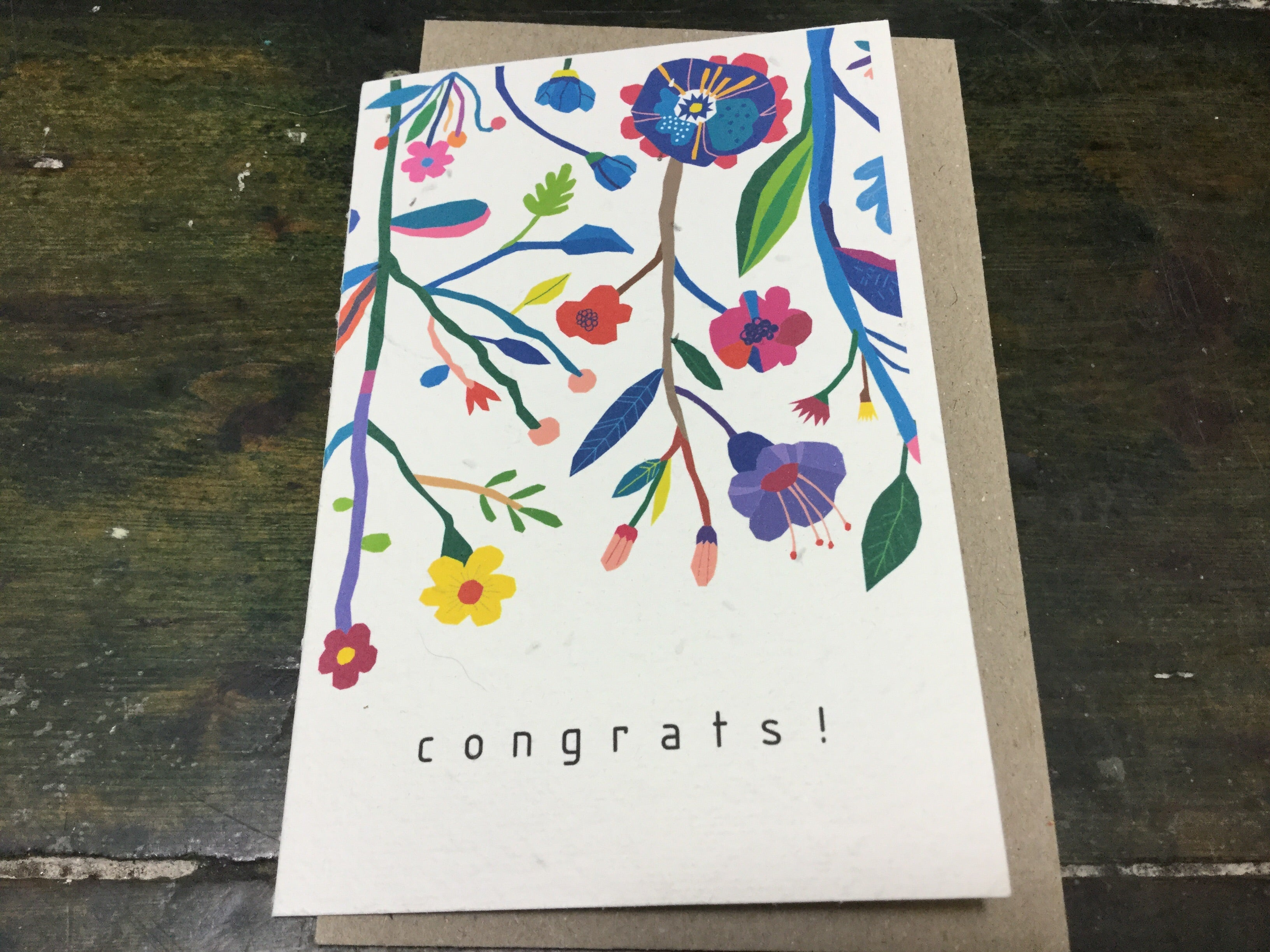 Planet Go Round Congratulations Flower Seed Card -Cards