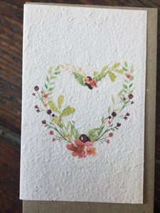 Planet Go Round Floral Heart Seed Card -Cards