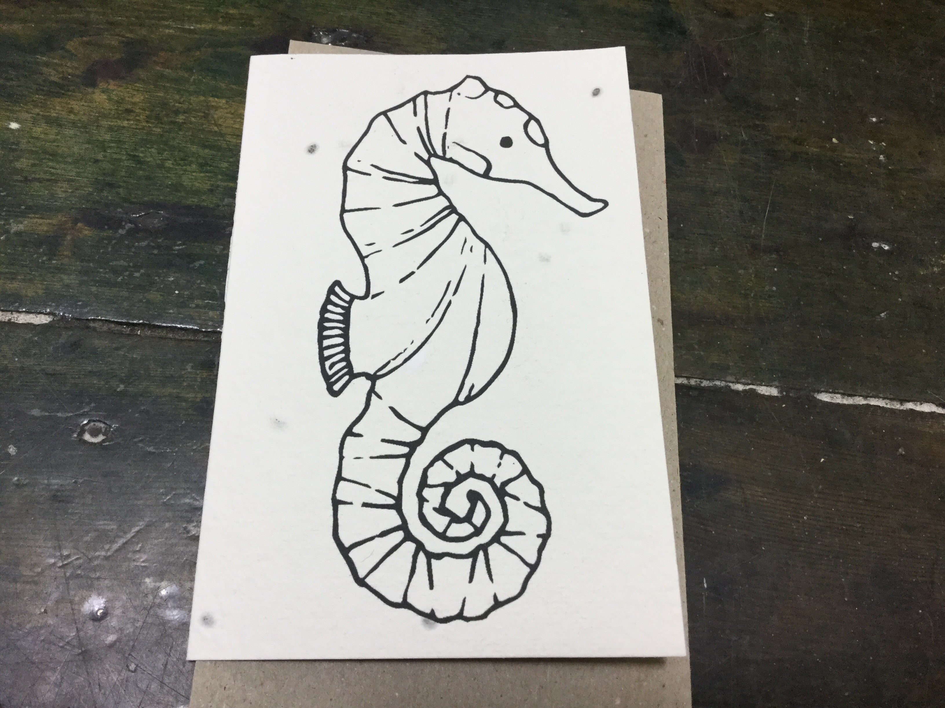 Planet Go Round - Sea horse Seed Card - last minute gift idea - melbourne