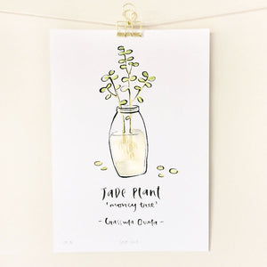 Little sister co - Jade Plant / A4 Print - last minute gift idea - melbourne