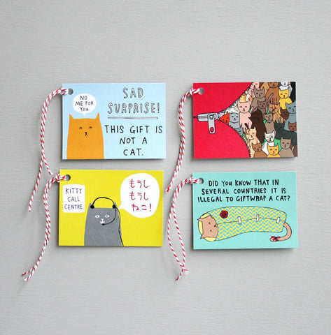 Able and Game Kitty Gift Tags - pack of 8 -Gift Tags Melbourne