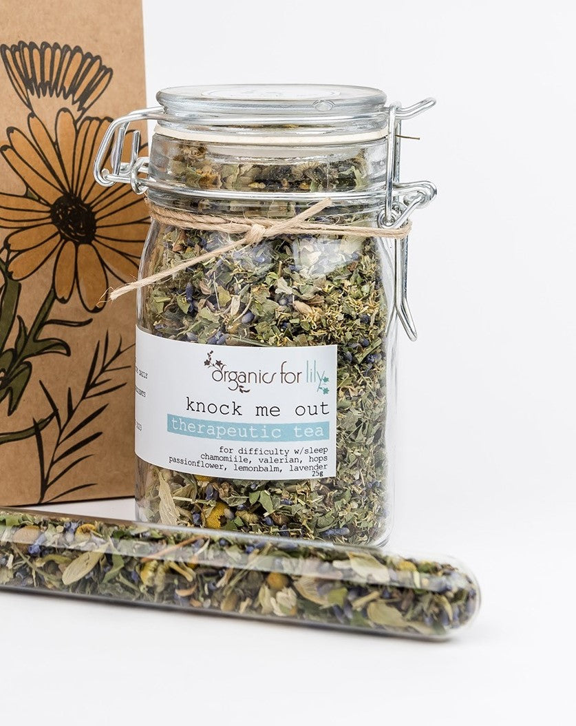 Organics for Lily - Knock Me Out tea 25g Jar - last minute gift idea - melbourne