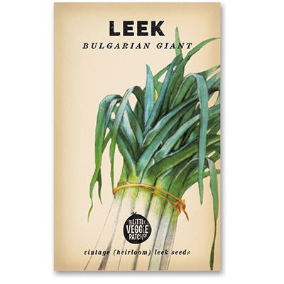 LEEK 'BULGARIAN GIANT' HEIRLOOM SEEDS - Pookipoiga