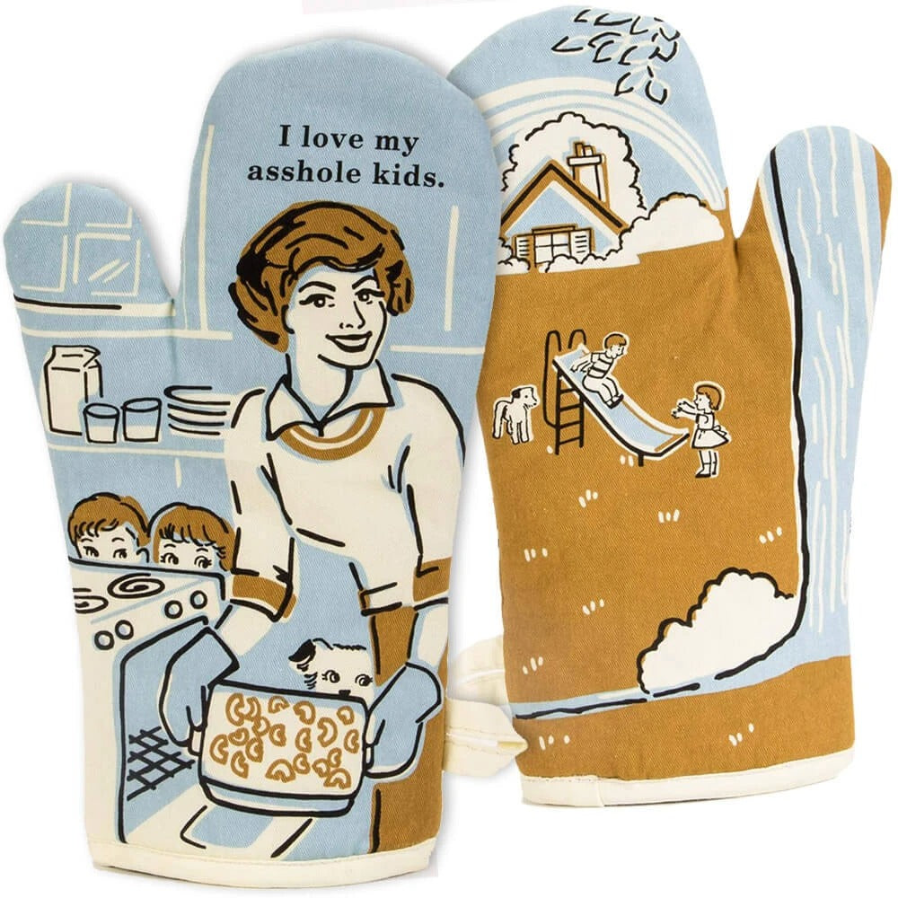 I Love My Asshole Kids Oven Mitt - Pookipoiga
