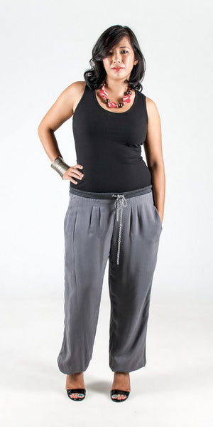 Tonle Lydia Trousers Grey -Pants Melbourne