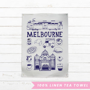 Able and Game Melbourne --- Tea Towel -Tea Towel