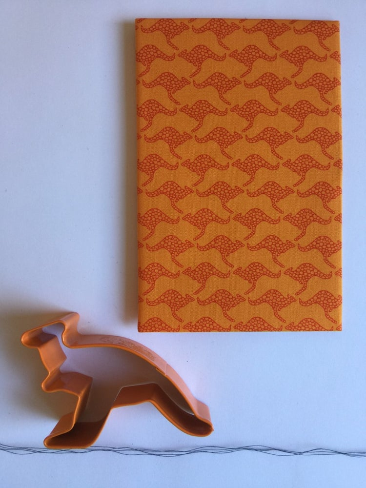 Hanky Fever - KANGAROOS DESERT ORANGE - last minute gift idea - melbourne