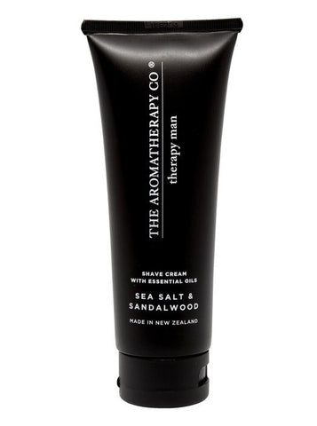 The Aromatherapy Co Shave Cream - Sea Salt and Sandalwood -Face and Body Melbourne