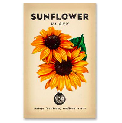 SUNFLOWER 'HI-SUN' HEIRLOOM SEEDS - Pookipoiga