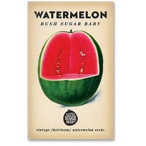 "WATERMELON ""BUSH SUGAR BABY"" HEIRLOOM SEEDS - Pookipoiga"