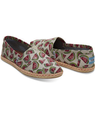 TOMS Pink Watermelon Alpargatas -Shoes Melbourne