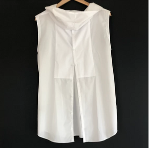 Ana Williams Upcycled Sleeveless White Cotton Top -Top