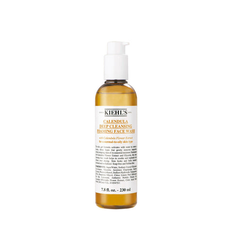 ....Kiehl's Calendula Deep Cleansing Foaming Face Wash 230ML..Kiehls 契爾氏 金盞花深層潔面泡沫 230ML....