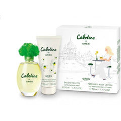 ....Grès Cabotine Classic Eau De Toilette 50ml Spray + Body Lotion 50ml..Cabotine 歌寶婷 清秀佳人(綠色)小雙重奏套裝(香水EDT 50ML+香體乳50ML)....
