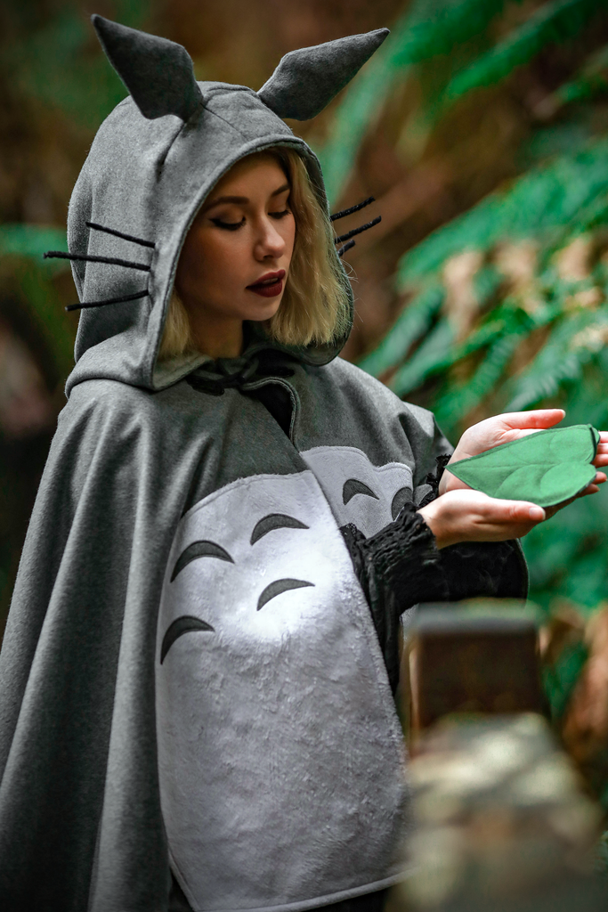 Totoro Cape - Button Fox