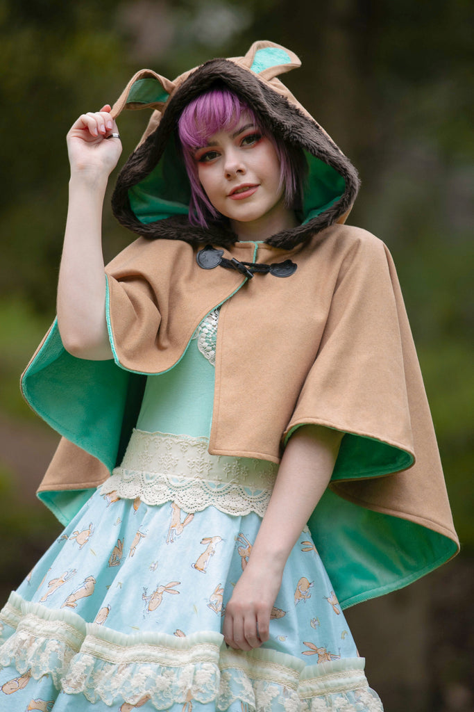 Bunny Capelet (BRWN&MNT) - Button Fox
