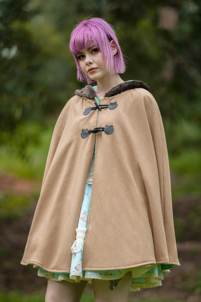 Long Bunny Cape (BRWN&MNT) - Button Fox