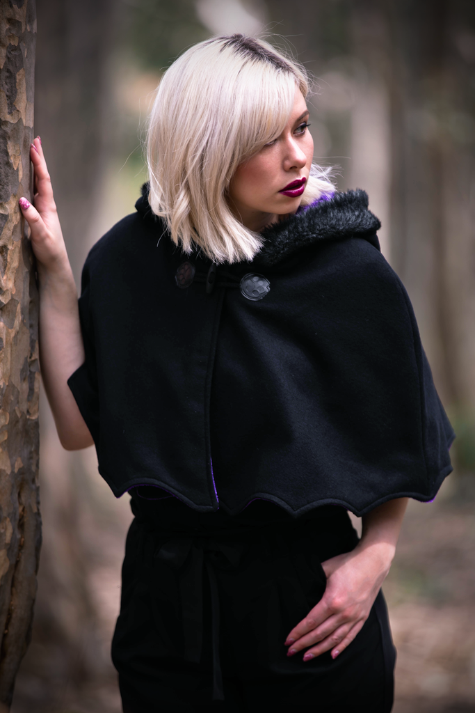 Bat Capelet (BLCK&GLXY) - Button Fox