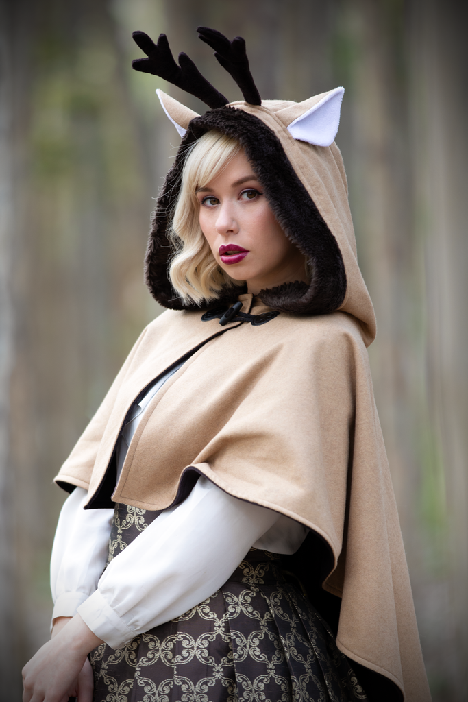 Deer Capelet - Button Fox ボタン狐